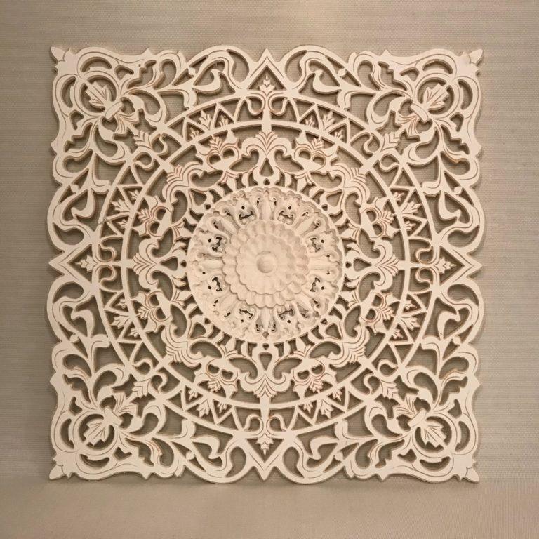 Vierkant wandbord met druk patroon